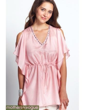 """Топ для кормления Mothers en Vogue """"Luxe Silk Kaftan"""", розовый"""