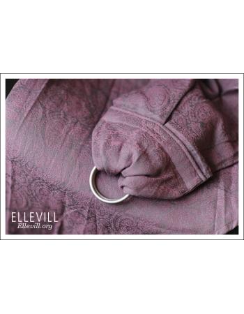 Слинг с кольцами Ellevill Paisley Silver-Pink со льном