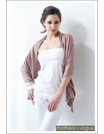 Пончо для кормления Mothers en Vogue из бамбука, цвет розово-бежевый