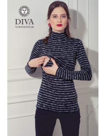 Топ для кормящих Diva Nursingwear  Felisa Strisce, цвет Azzurro