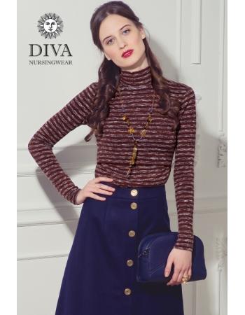 Топ для кормящих Diva Nursingwear  Felisa Strisce, цвет Terracotta
