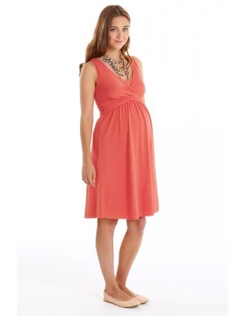 """Платье для кормящих и беременных """"Wrap Dress"""" без рукава, Nectarine"""