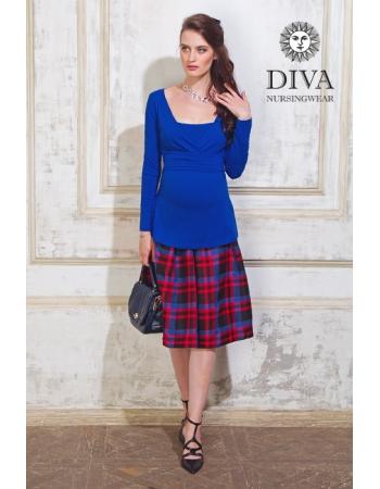 Топ для кормящих и беременных Diva Nursingwear Alba дл.рукав, Azzurro
