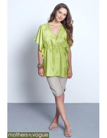 """Топ для кормления Mothers en Vogue """"Luxe Silk Kaftan"""", зеленый"""