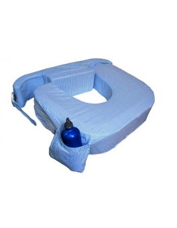"""Подушка для кормления двойни """"Голубые полосы"""""""