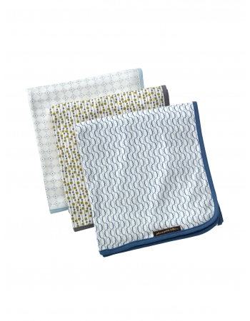 Petunia комплект 3 пеленок трикотажных Simple Sunburst/Raindrop Shapes/Crimped Cables