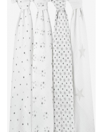 Муслиновые пеленки для новорожденных Aden&Anais большие, набор 4, Twinkle Star