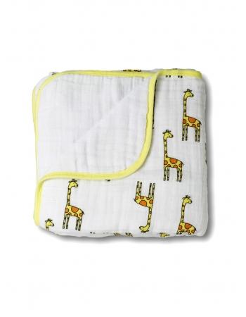 Aden&Anais одеяло муслиновое, Jungle Jam Giraffe