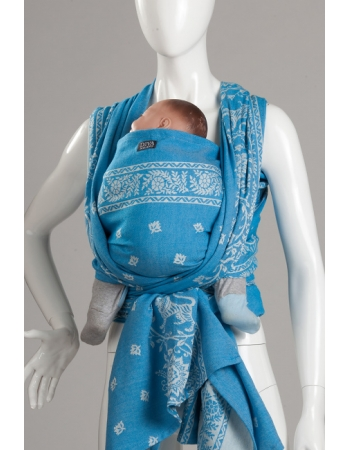 Слинг-шарф Diva Milano, Barocco Lions Turchese с шерстью