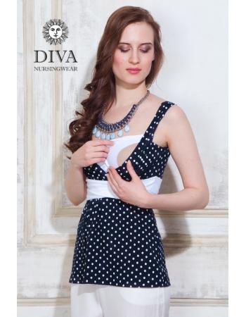 Топ для кормящих и беременных Diva Nursingwear Alba, Pois