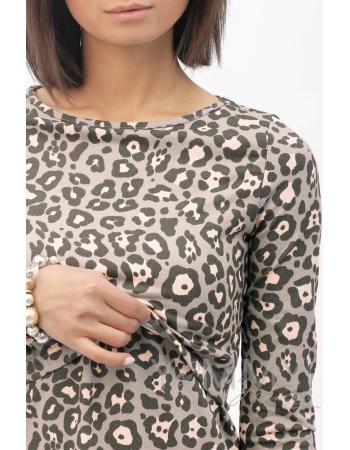 Платье-футляр с леопардовым принтом для кормящих