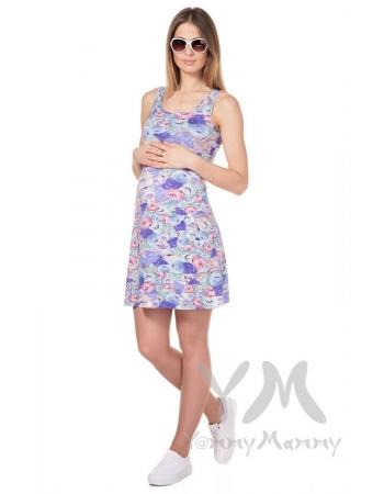 Платье-майка с цветочным принтом для беременных