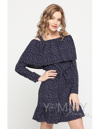 """Платье с воланом и длинным рукавом с принтом """"пальмы"""" для беременных"""