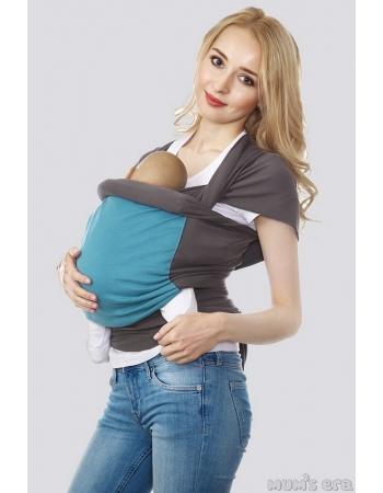 Слинг-шарф трикотажный Fusion, серо-голубой