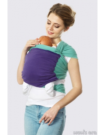Слинг-шарф трикотажный Fusion, зеленый-синий