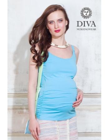 Майка для кормящих и беременных Diva Natale, цвет Celeste