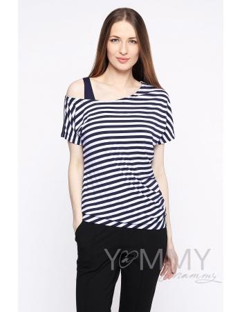 Блуза со спущенным плечом в комплекте с топом для кормящих и беременных
