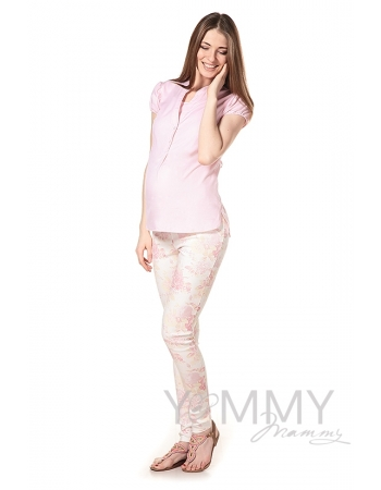Универсальные брюки из джинсы с цветочным принтом для кормящих