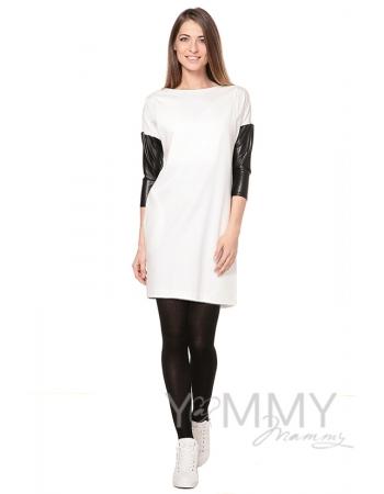 Платье-туника для кормящих и беременных, экрю