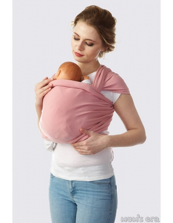 Слинг-шарф трикотажный, розовый
