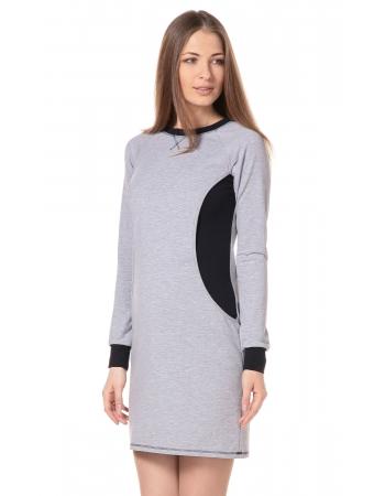 Платье спортивное для беременных и кормящих, серый меланж