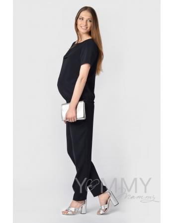 Костюм для беременных и кормящих мам, цвет темно-синий