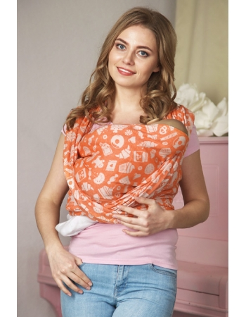 Слинг-шарф Sweet, оранжевый