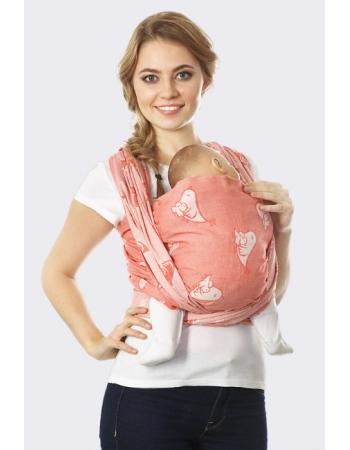 Слинг-шарф Птички, кармин