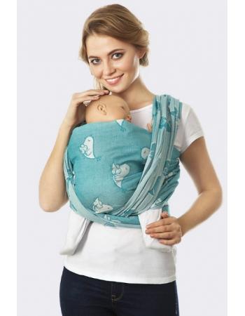 Слинг-шарф Птички, прибой