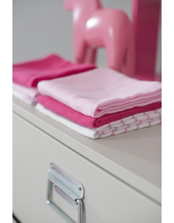 Муслиновые пеленки для новорожденных Jollein средние, fuchsia/pink/white
