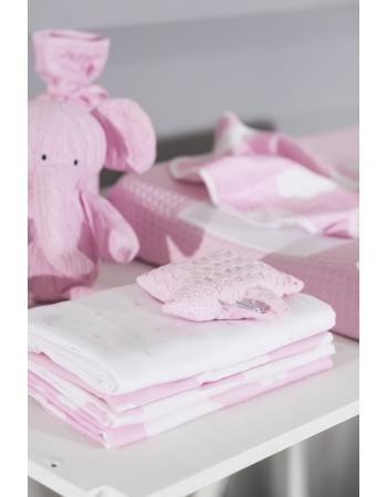 Муслиновые пеленки для новорожденных Jollein большие, Clouds Pink (Розовые облака)