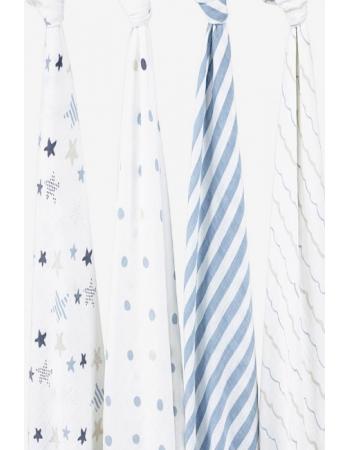Муслиновые пеленки для новорожденных Aden&Anais большие, набор 4, Rock Star