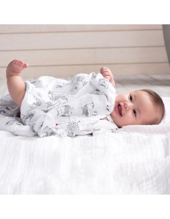 Муслиновые пеленки для новорожденных Aden&Anais большие, набор 4, Lovebird