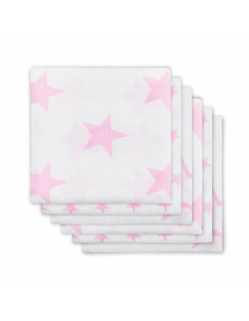 Муслиновые пеленки для новорожденных Jollein средние, Little Star Pink