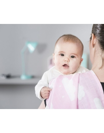 Муслиновые пеленки для новорожденных Jollein средние, Clouds Pink
