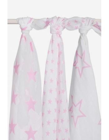 Муслиновые пеленки для новорожденных Jollein большие, Little Star Pink