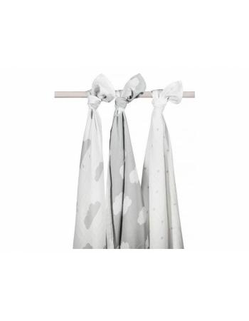 Муслиновые пеленки для новорожденных Jollein большие, Clouds Grey