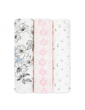 Бамбуковые пеленки для новорожденных Aden&Anais большие, набор 3, Meadowlark