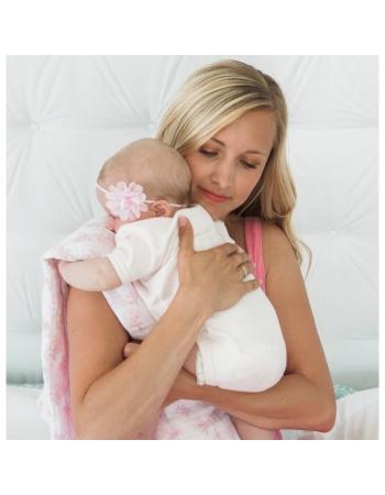 Муслиновые пеленки для новорожденных SwaddleDesigns большие, Pink Bunnie XOXO