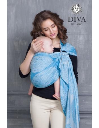 Слинг с кольцами для новорожденных Diva Essenza, Cielo с бамбуком