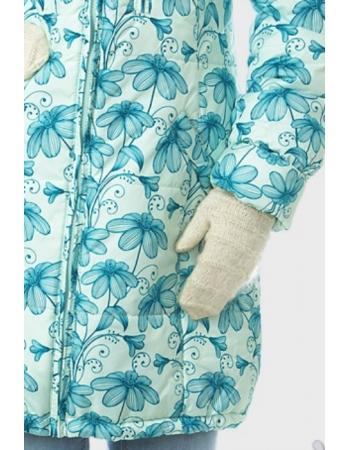 Зимняя слингокуртка Ingrid 3в1, зеленые цветы