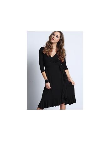 """Платье Mothers en Vogue """"Flamenco Wrap"""", цвет черный"""