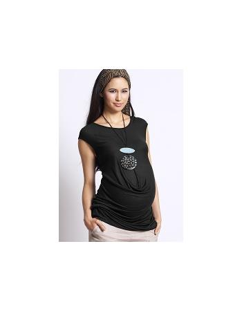 """Туника для беременных Mothers en Vogue """"Front Drop Formation"""", цвет черный"""