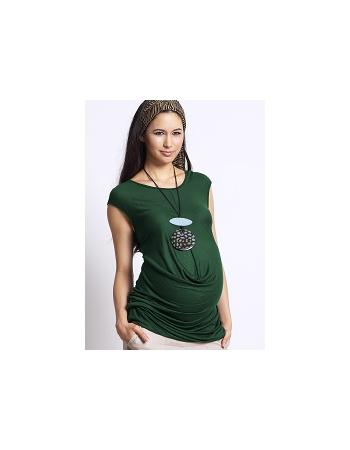 """Туника для беременных Mothers en Vogue """"Front Drop Formation"""", цвет зеленый"""