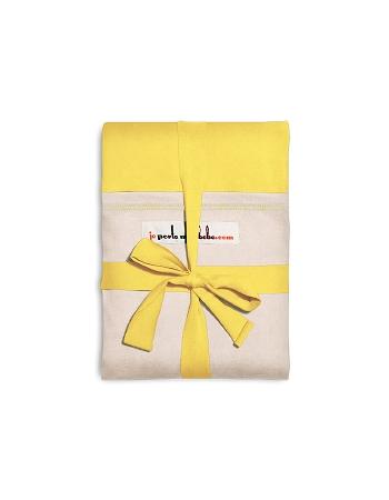 """Слинг-шарф JPMBB трикотажный, цвет """"лимон - экрю"""""""