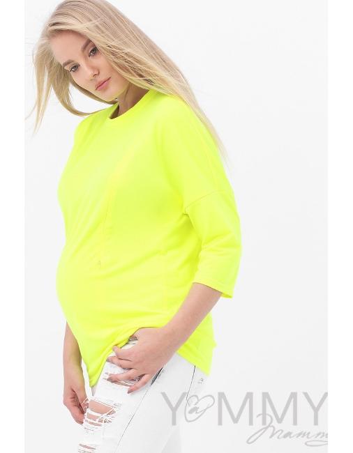 8a6fa0025b35e Лонгслив для беременных и кормящих, цвет жёлтый неон - купить Одежда ...