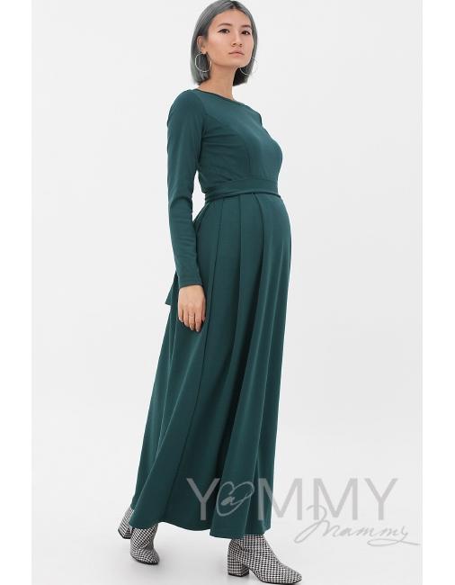 3db8eddb07db9e4 Платье для кормящих и беременных в пол, юбка со складками, ...