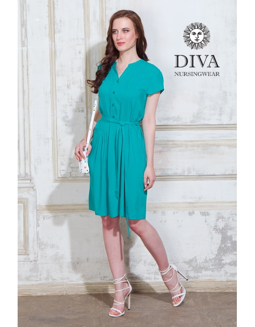 dbb83cca384e Платье для кормящих и беременных Diva Nursingwear Gemma, цвет Smeraldo ...