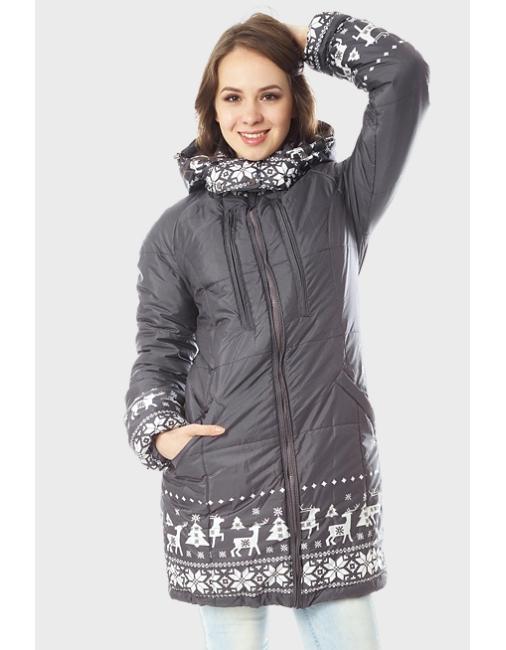 Слингокуртка зимняя Ingrid 3в1, олени графит - купить Верхняя одежда ... 9023f59063d