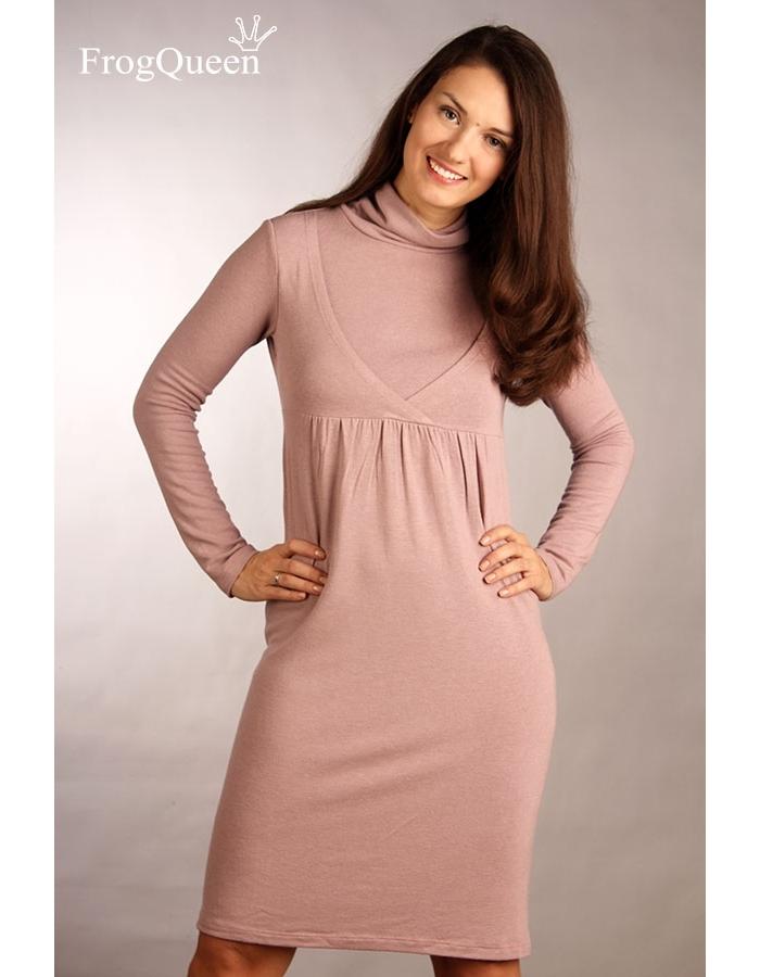 Тёплое платье для беременных 265
